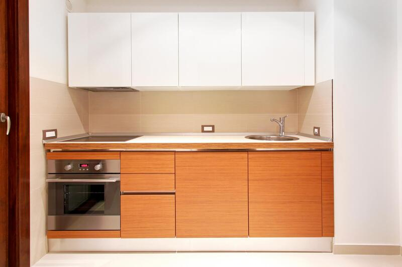 a fully paint kitchen cabinet